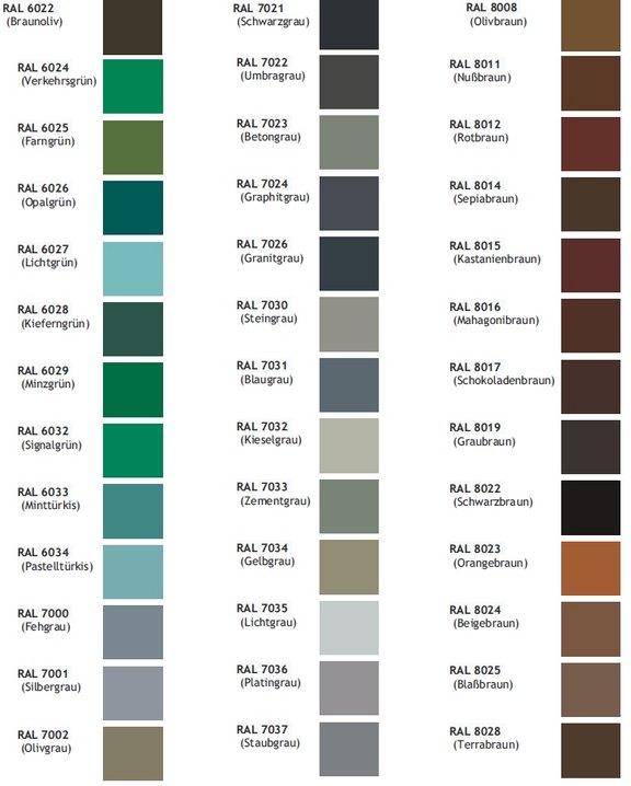 Extrem Alu Fenster 24 - Aluminiumfenster Farbenvielfalt Akzo Nobel GC69